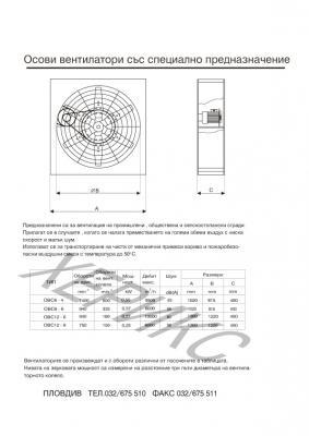 Осови вентилатори със специално предназначение