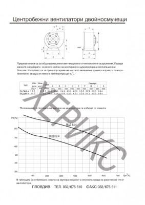 Центробежнни вентилатори двойносмучещи