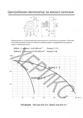 Центробежен вентилатор за високо налягане