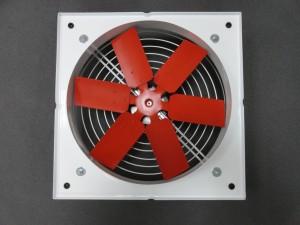 Осов вентилатор с квадратен корпус