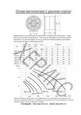 Осови вентилатори с удължен корпус